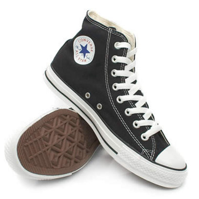 black converse all star hi