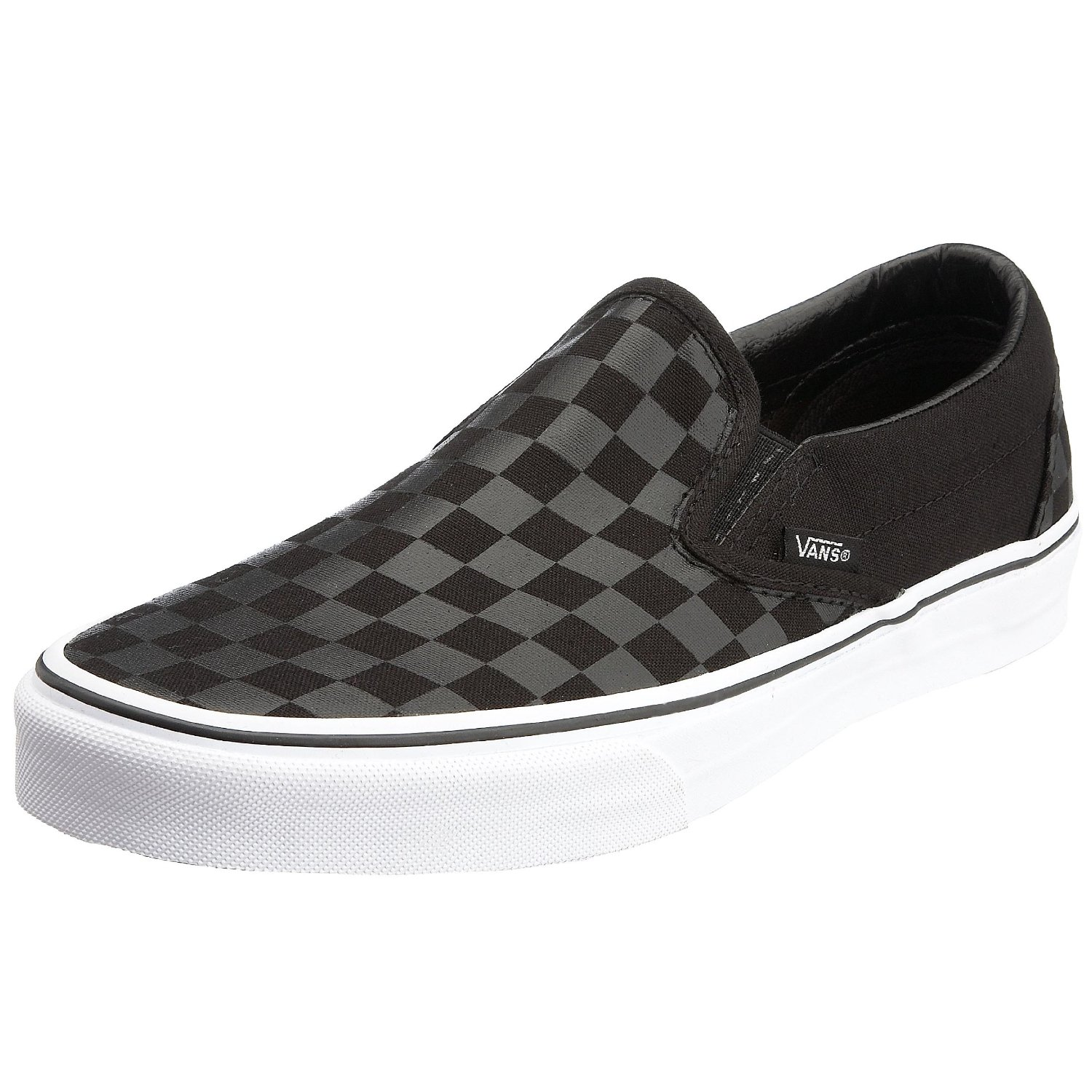 huge inventory reputable site unbeatable price Vans Classic Clip on Trainer Black/Check at Test Shop