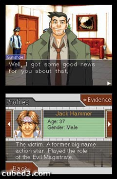Screenshot for Phoenix Wright: Ace Attorney on Nintendo DS