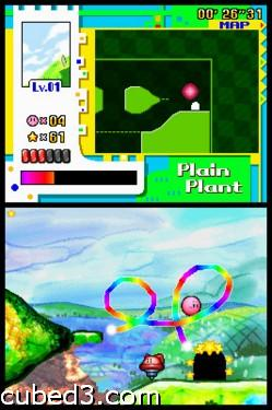 Screenshot for Kirby: Power Paintbrush on Nintendo DS- on Nintendo Wii U, 3DS games review