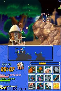 Screenshot for Worms: Open Warfare on Nintendo DS - on Nintendo Wii U, 3DS games review