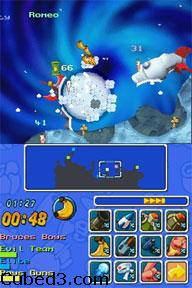 Screenshot for Worms: Open Warfare on Nintendo DS