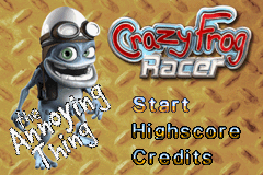 Screenshot for Crazy Frog Racer on Game Boy Advance