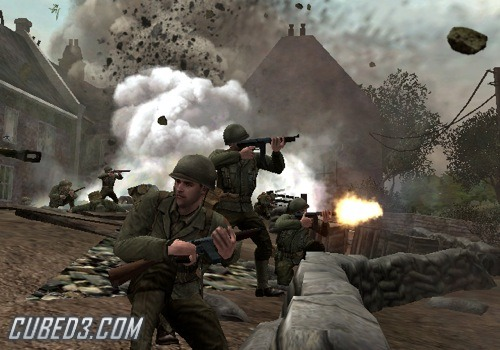 Screenshot for Call of Duty 3 on Wii - on Nintendo Wii U, 3DS games review