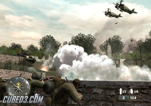 Screenshot for Call of Duty 3 on Wii- on Nintendo Wii U, 3DS games review