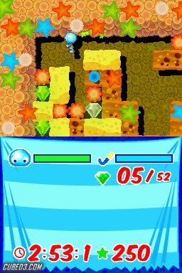Screenshot for Boulder Dash Rocks! on Nintendo DS- on Nintendo Wii U, 3DS games review