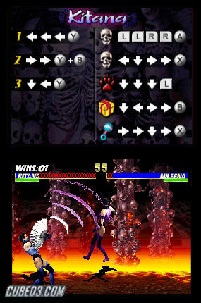Screenshot for Ultimate Mortal Kombat on Nintendo DS - on Nintendo Wii U, 3DS games review