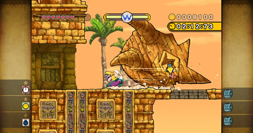 Screenshot for Wario Land: The Shake Dimension on Wii- on Nintendo Wii U, 3DS games review