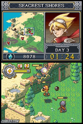 Screenshot for Lock's Quest on Nintendo DS - on Nintendo Wii U, 3DS games review