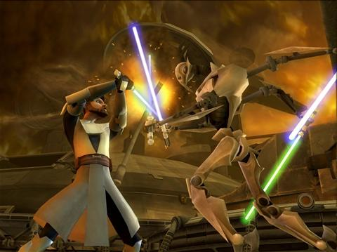 Screenshot for Star Wars The Clone Wars: Lightsaber Duels on Wii