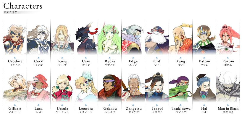 Final Fantasy IV/Characters — StrategyWiki, the video game ...