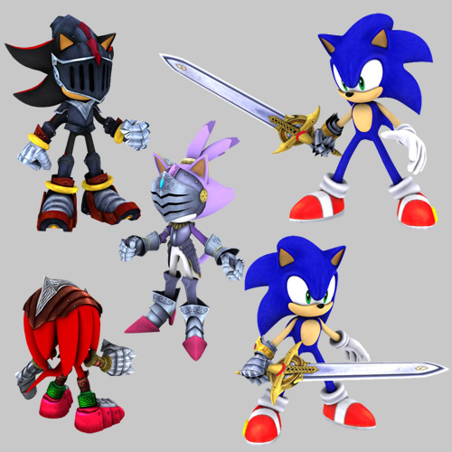 Fans wanting to play as other faces in Sonic's universe can try out a