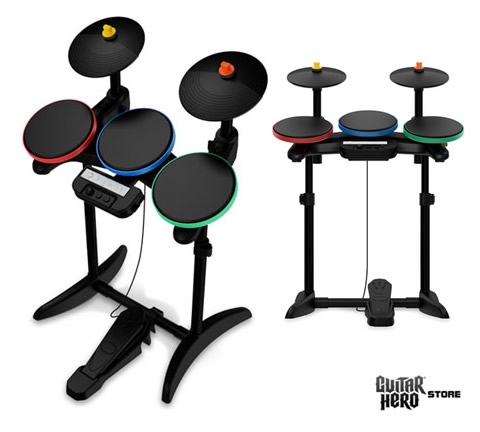 Thanks to IGN Wii. What do you think of the new Guitar Hero drum kit design?