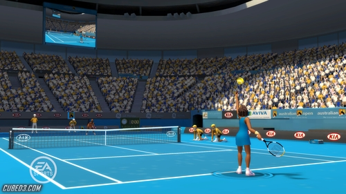 Screenshot for Grand Slam Tennis on Wii - on Nintendo Wii U, 3DS games review