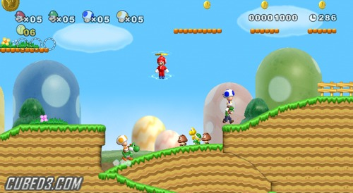Screenshot for New Super Mario Bros. Wii on Wii - on Nintendo Wii U, 3DS games review