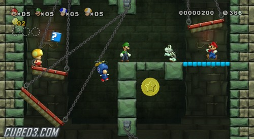 Screenshot for New Super Mario Bros. Wii on Wii- on Nintendo Wii U, 3DS games review