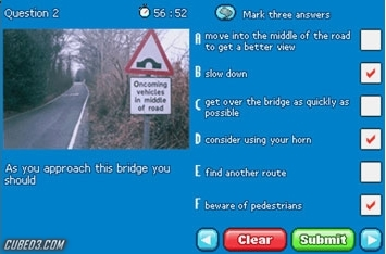 Screenshot for Pass Your Driving Theory Test on Nintendo DS