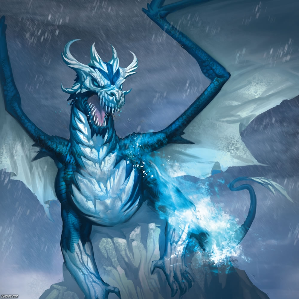 giant giant fire dragon vs ice dragon - photo #3