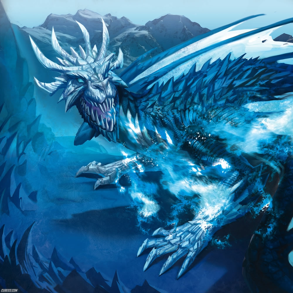 giant giant fire dragon vs ice dragon - photo #13