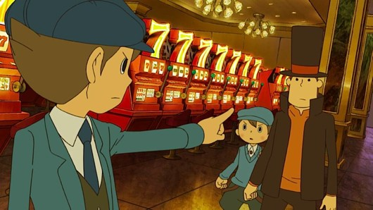 Screenshot for Professor Layton and the Lost Future (Hands-On) on Nintendo DS