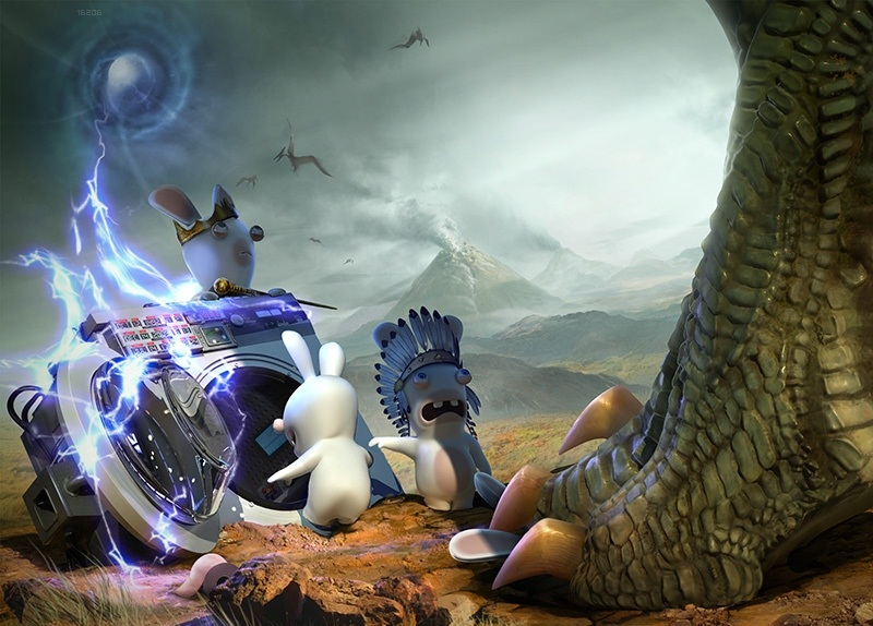Screenshot for Raving Rabbids: Travel in Time on Wii