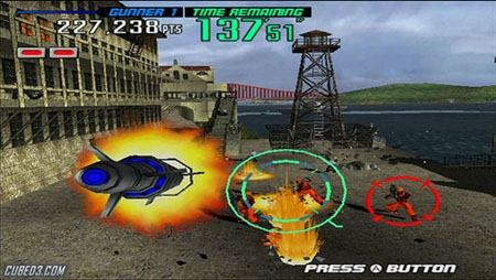Screenshot for Gunblade NY & L.A. Machineguns: Rage of the Machines Arcade Hits Pack on Wii- on Nintendo Wii U, 3DS games review