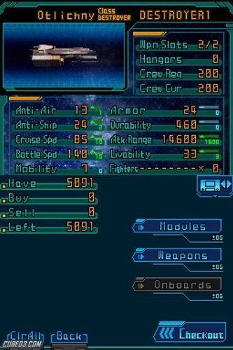 Screenshot for Infinite Space on Nintendo DS