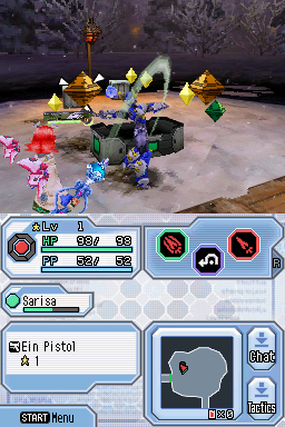 Screenshot for Phantasy Star Zero on Nintendo DS - on Nintendo Wii U, 3DS games review