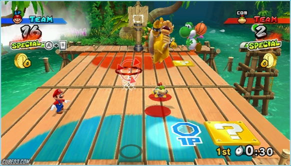 Screenshot for Mario Sports Mix (Hands-On) on Wii
