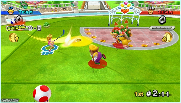 Screenshot for Mario Sports Mix on Wii - on Nintendo Wii U, 3DS games review