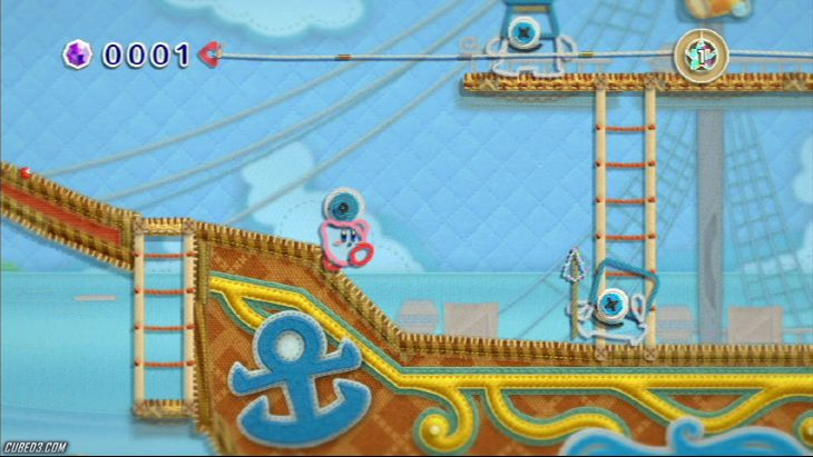 Screenshot for Kirby's Epic Yarn on Wii- on Nintendo Wii U, 3DS games review