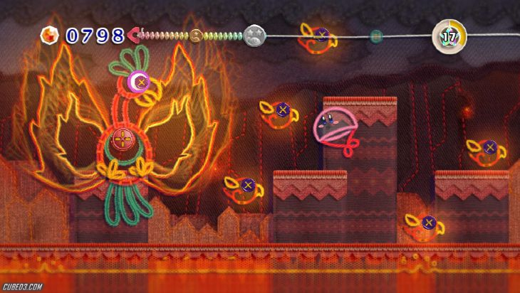 Screenshot for Kirby's Epic Yarn on Wii - on Nintendo Wii U, 3DS games review