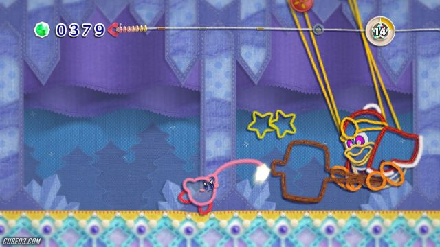 Screenshot for Kirby's Epic Yarn on Wii