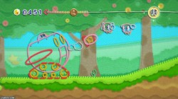 Screenshot for Kirby&#39;s Epic Yarn - click to enlarge