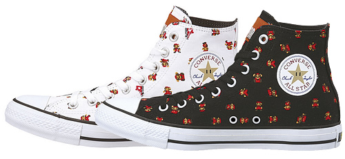 Image for Wear Mario on your Converse Shoes