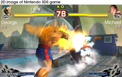 Screenshot for Super Street Fighter IV: 3D Edition on Nintendo 3DS - on Nintendo Wii U, 3DS games review