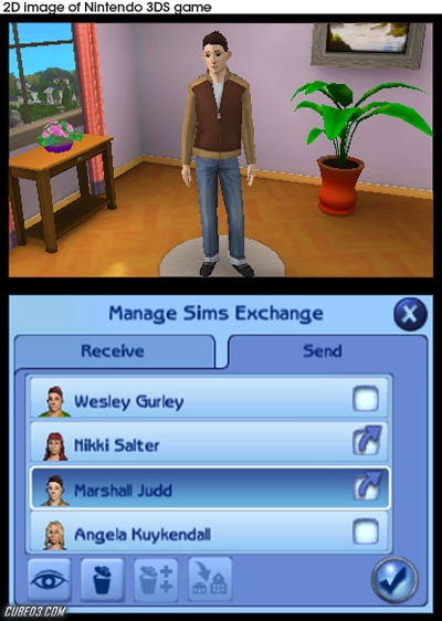 Screenshot for The Sims 3 on Nintendo 3DS - on Nintendo Wii U, 3DS games review