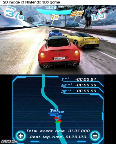 Screenshot for Asphalt 3D on Nintendo 3DS
