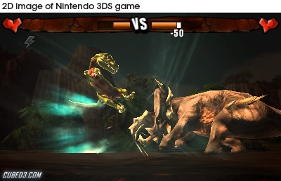 Screenshot for Combat of Giants: Dinosaurs 3D on Nintendo 3DS