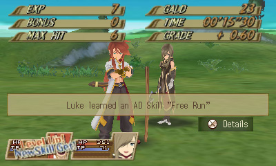 Screenshot for Tales of the Abyss on Nintendo 3DS