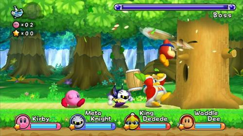 Screenshot for Kirby's Adventure Wii on Wii- on Nintendo Wii U, 3DS games review