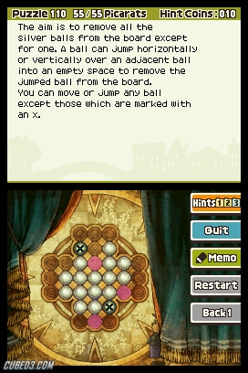 Screenshot for Professor Layton and the Spectre's Call (Hands-On) on Nintendo DS