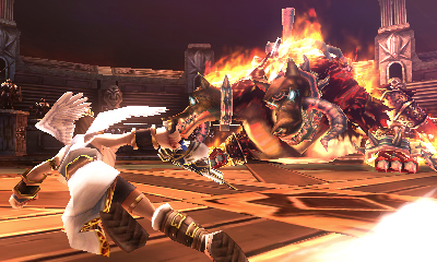 Screenshot for Kid Icarus: Uprising (Hands-On) on Nintendo 3DS