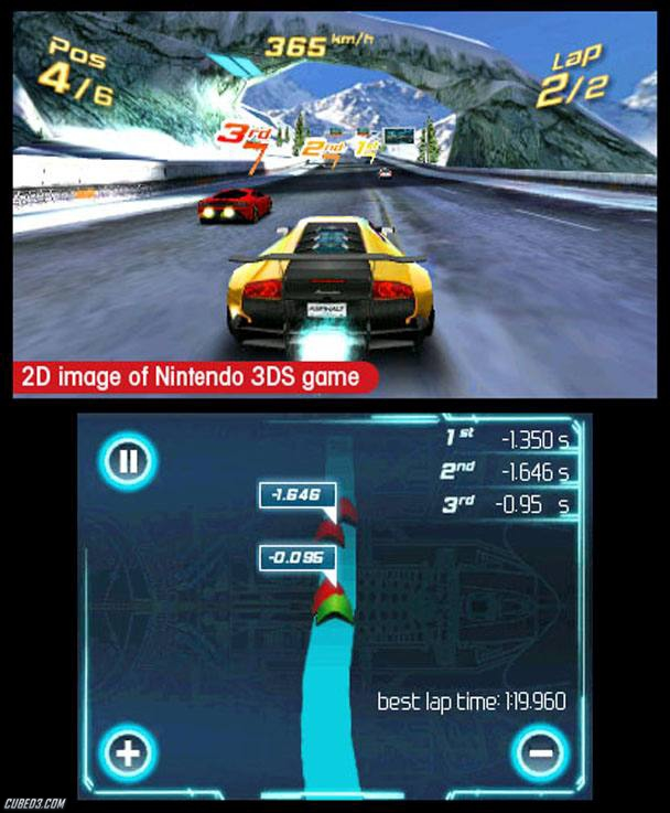 Screenshot for Asphalt 3D on Nintendo 3DS- on Nintendo Wii U, 3DS games review