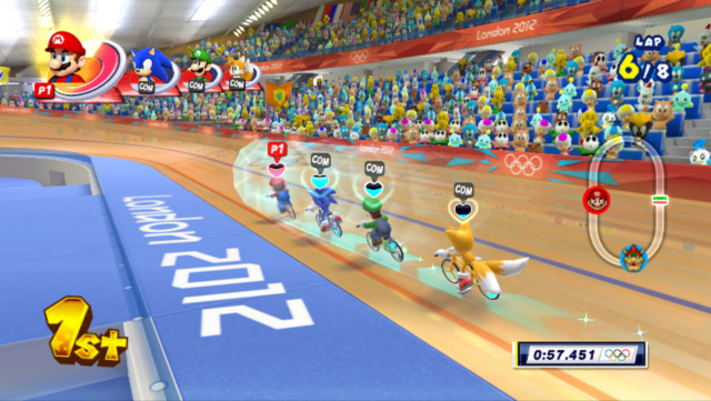 Screenshot for Mario & Sonic at the London 2012 Olympic Games on Wii - on Nintendo Wii U, 3DS games review