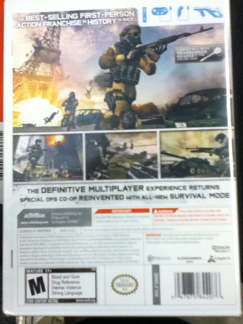 News A Look At Call Of Duty Modern Warfare 3 Wii The Box Page 2 Cubed3