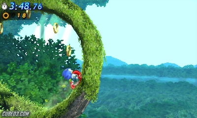 Screenshot for Sonic Generations on Nintendo 3DS- on Nintendo Wii U, 3DS games review