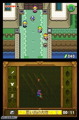 Screenshot for The Legend of Zelda: Four Swords Anniversary Edition on Nintendo DS