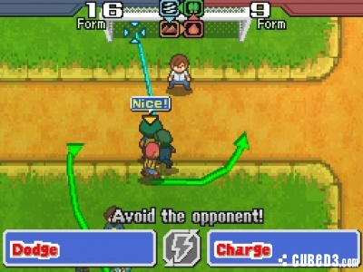 Screenshot for Inazuma Eleven 2: FireStorm / Blizzard on Nintendo DS - on Nintendo Wii U, 3DS games review