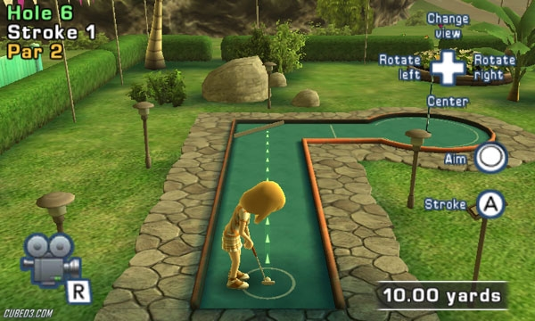 Screenshot for Fun! Fun! Minigolf TOUCH! on 3DS eShop - on Nintendo Wii U, 3DS games review